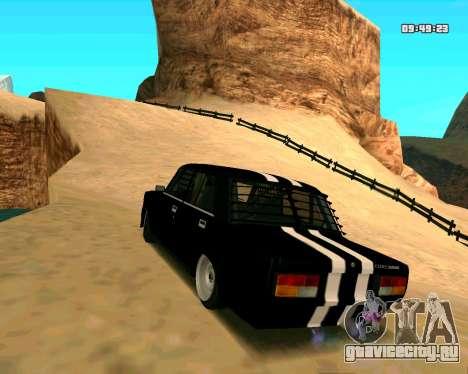 ВАЗ 2107 КОРЧ для GTA San Andreas вид сзади слева
