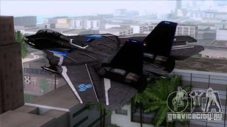 F-14 Neon Blue Macross Frontier для GTA San Andreas вид слева