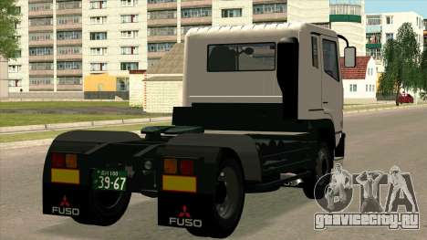 Mitsubishi Fuso Super Great FP-R для GTA San Andreas вид сзади слева