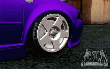 Volkswagen Jetta GLI 2010 TnTuning для GTA San Andreas вид сзади слева