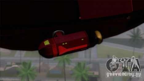 Shuttle v1 (no wheels) для GTA San Andreas вид сзади слева