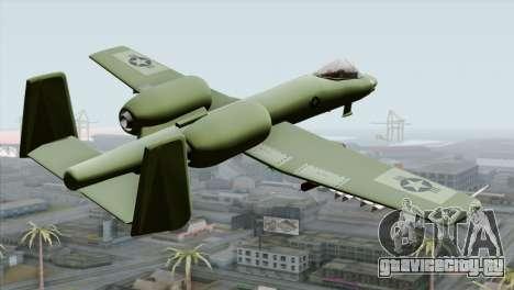 A-10 Warthog Shark Attack для GTA San Andreas вид слева