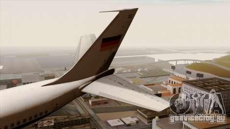 Boeing 707-300 Luftwaffe для GTA San Andreas вид сзади слева