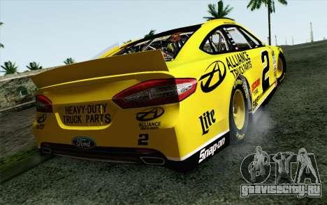NASCAR Ford Fusion 2013 v4 для GTA San Andreas вид слева