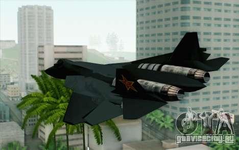 Sukhoi PAK-FA China Air Force для GTA San Andreas вид слева