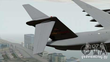 C-17A Globemaster III USAF March для GTA San Andreas вид сзади слева