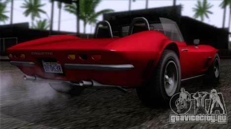 GTA 5 Invetero Coquette Classic TL IVF для GTA San Andreas вид слева