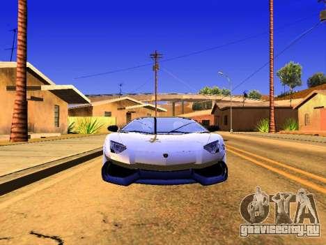 Lamborghini Aventador Novitec Torado для GTA San Andreas вид сзади слева
