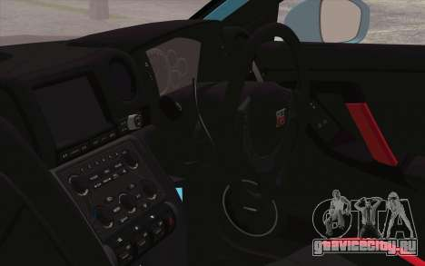 Nissan GT-R35 v1 для GTA San Andreas вид справа