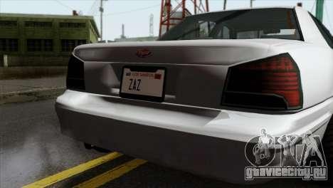GTA 5 Vapid Stanier II SA Style для GTA San Andreas вид сзади