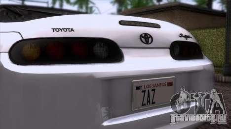 Toyota Supra US-Spec (JZA80) 1993 HQLM для GTA San Andreas вид сзади