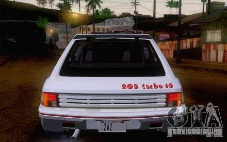 Peugeot 205 Turbo 16 1984 [IVF] для GTA San Andreas вид сбоку