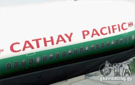 Lookheed L-1011 Cathay P для GTA San Andreas вид сзади