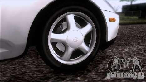 Toyota Supra US-Spec (JZA80) 1993 HQLM для GTA San Andreas вид сзади слева