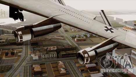 Boeing 707-300 Luftwaffe для GTA San Andreas вид справа