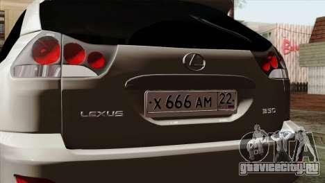 Lexus RX350 2009 для GTA San Andreas вид справа