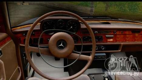 Mercedes-Benz 300 SEL 6.3 (W109) 1967 HQLM для GTA San Andreas вид изнутри