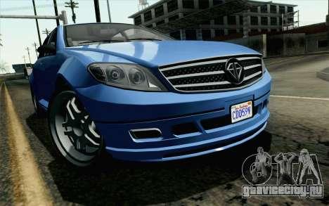 GTA 5 Benefactor Schafter для GTA San Andreas вид сзади