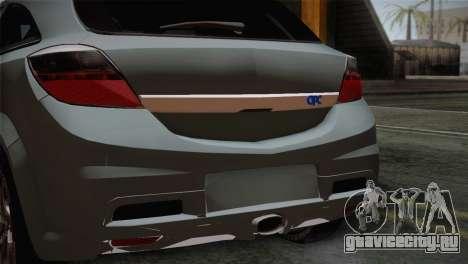 Opel Astra OPC Stock для GTA San Andreas вид сзади