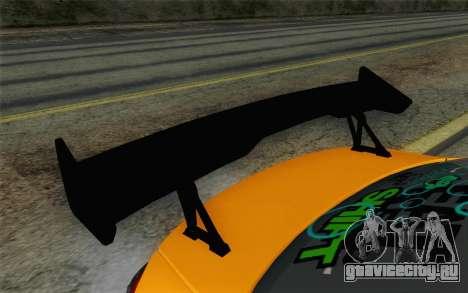Mitsubishi Lancer Evolution X v2 для GTA San Andreas вид справа