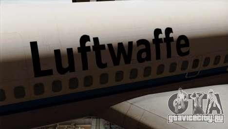 Boeing 707-300 Luftwaffe для GTA San Andreas вид сзади