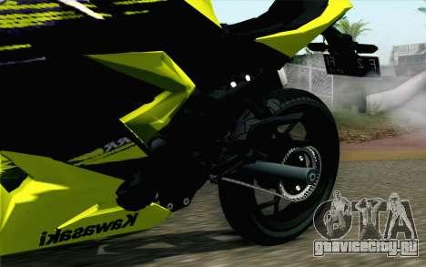 Kawasaki Ninja 250RR Mono Yellow для GTA San Andreas вид справа