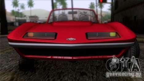 GTA 5 Invetero Coquette Classic TL IVF для GTA San Andreas вид сзади