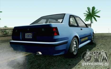 GTA 5 Karin Futo SA Mobile для GTA San Andreas вид слева