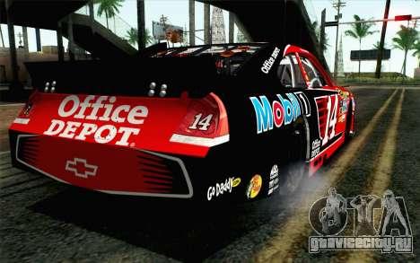 NASCAR Chevrolet Impala 2012 Short Track для GTA San Andreas вид слева