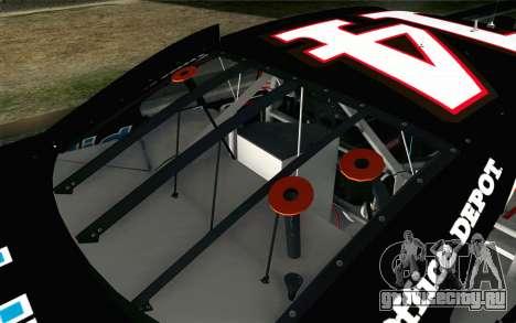 NASCAR Chevrolet Impala 2012 Short Track для GTA San Andreas вид сзади