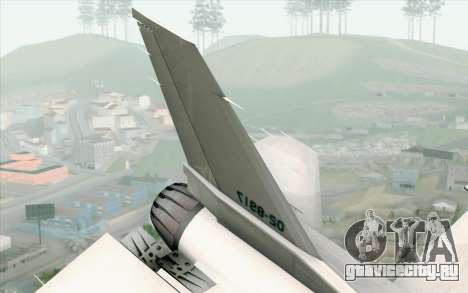 Mitsubishi F-2 White JASDF Skin для GTA San Andreas вид сзади слева