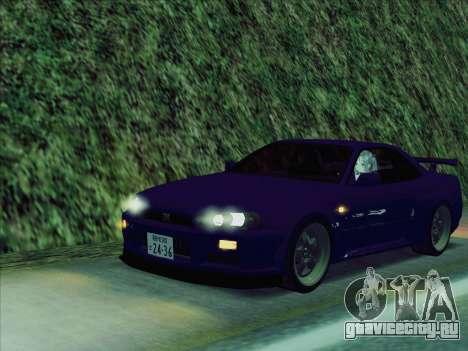 Nissan Skyline GT-R V-Spec (BNR34) для GTA San Andreas