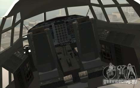 Lockheed C-130 Hercules Indonesian Air Force для GTA San Andreas вид сзади