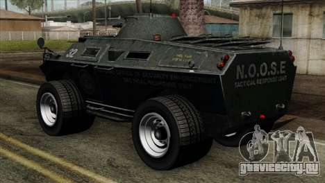 GTA 4 TBoGT Swatvan v2 для GTA San Andreas вид слева