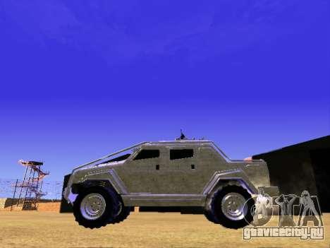 HVY повстанческой Самовывоз для GTA San Andreas вид сзади