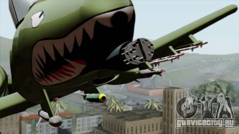 A-10 Warthog Shark Attack для GTA San Andreas вид сзади