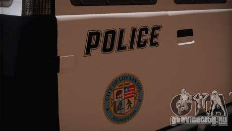 GTA 5 Police Transporter для GTA San Andreas вид сзади