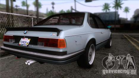 BMW M635 CSi 1984 Stock для GTA San Andreas вид слева