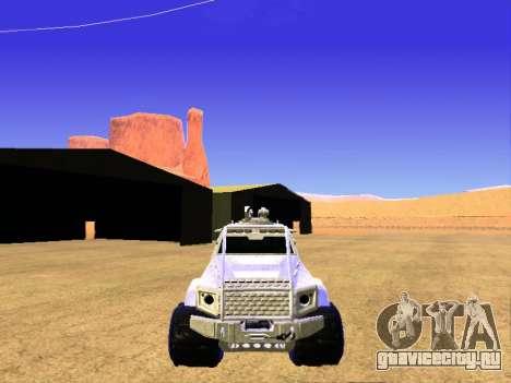 HVY повстанческой Самовывоз для GTA San Andreas вид изнутри