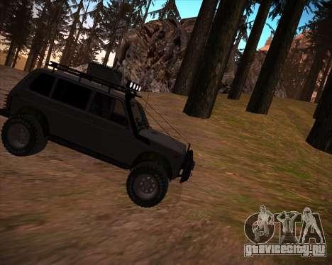 ВАЗ 2131 Нива 5Д OffRoad для GTA San Andreas салон