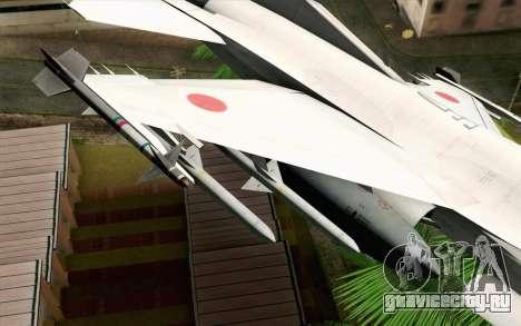Mitsubishi F-2 Original JASDF Skin для GTA San Andreas вид справа