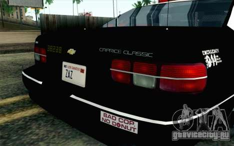 Chevy Caprice SAHP SAPD Highway Patrol v1 для GTA San Andreas вид сзади