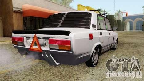ВАЗ 2107 БК для GTA San Andreas вид слева