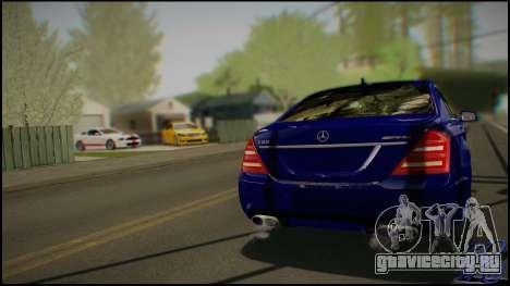 Mercedes-Benz S65 AMG 2012 Road version для GTA San Andreas вид справа