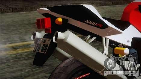 Honda RVT1000R (RC51) IVF для GTA San Andreas вид сзади