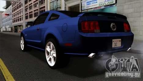 Ford Mustang GT PJ Wheels 1 для GTA San Andreas вид слева