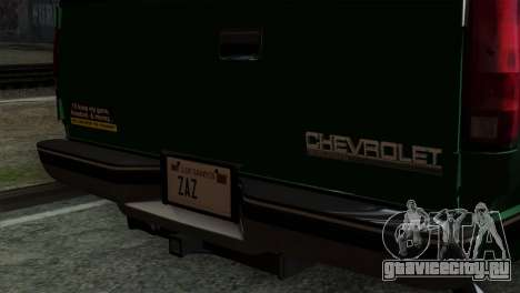 Chevrolet Suburban GMT400 1998 для GTA San Andreas вид сзади