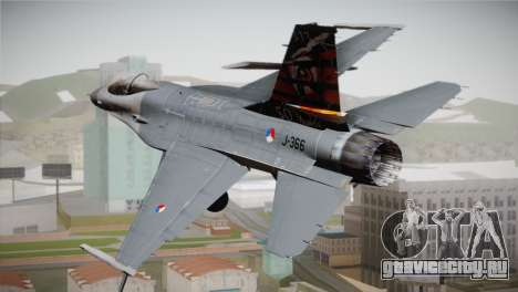 F-16 Fighting Falcon 50th Anniv. of Squadron 313 для GTA San Andreas вид слева