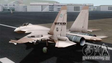 SU-37 UPEO для GTA San Andreas вид слева