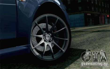 Mitsubishi Lancer X для GTA San Andreas вид сзади слева